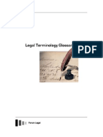 Legal Terminology Glossaries TOC