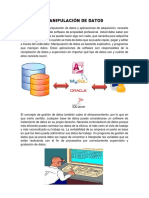 4.3 Manipulacíon  de datos