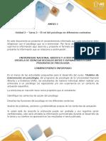Anexo 1 - Tarea 2 - El rol del psicólogo en diferentes contextos (1).pdf
