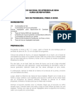 ARROLLADO DE FRAMBUESA, FRESA O MORA