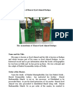 The brief Biography of Hazrat Syed Ahmed Badepa Hyderabad