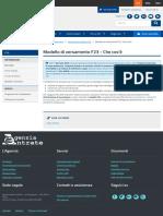 Schede - F23 - Che cos'è - Agenzia delle Entrate
