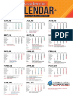 Kalender Academic example
