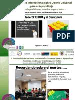 Taller III DUA Curriculum