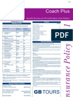 GB Tours- Coach Plus - Policy Wording 2011