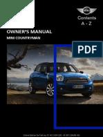 MINI Countryman manual