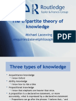 The tripartite theory of knowledge