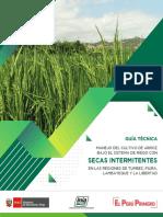 Guía Técnica Manejo del Cultivo de Arroz bajo el sistema de riego con secas