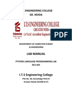 Python lab manual