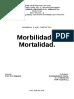 MAPA CONCEPTUAL MORBILIDAD Y MORTALIDAD