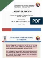1r. Conceptos generales sobre el Concreto - Diapositivas