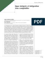 Chaîne Logistique Intégrée Et Intégration Des Informations Comptables.