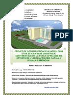 PROJET HOTEL 5 ETOILES FAA DE UA DOUALA BONAPRISO