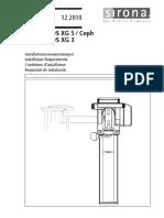 Orthophos XG 5, Installation requirements