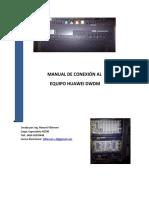 MANUAL CONEXION AL DWDM
