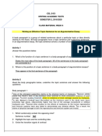 Cel 2103 - Class Material Week 6 - Body Paragraph -