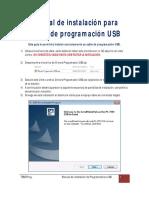 manual de instalacion cable USB