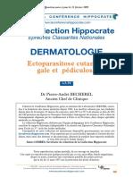 Ectoparasitose cutanée' gale pédiculose