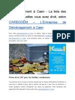 Déménagement À Caen – La Liste Des Aides Auxquelles Vous Avez Droit, Selon CARBODEM – L'Entreprise De Déménagement À Caen