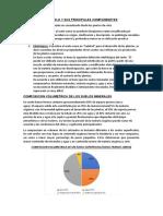 EL SUELO Y SUS PRINCIPALES COMPONENETES