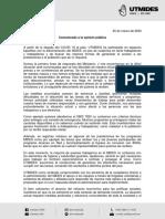 UTMIDES Comunicado 25_03_2020