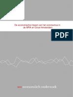 De economische impact van het coronavirus in de MRA en Groot-Amsterdam