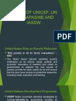 ROLES OF UNICEF, UN IFSW, APASWE