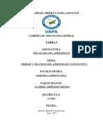 TAREA 5 PSICOLOGIA DEL APRENDIZAJE