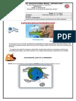 Ciencias naturales, contaminación ambiental