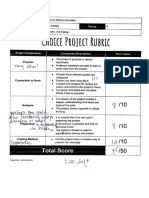 Choice Project Rubric and Written Component