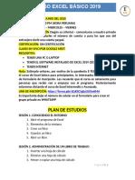 Plan de Estudios Excel 2019