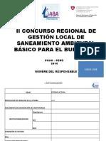 MODELO DE PRESENTACIÓN DE OTSABAS 2015  III CONCURSO