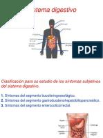 Sistema Digestivo. Síntomas.