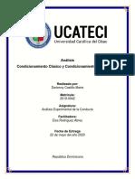 Analaisis Condicionamiento Clasico y Condicionamiento Instrumental.