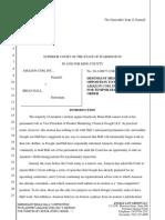 Amazon v. Brian Hall - Response re