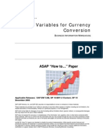 How to Use Variables for Currency Conversion