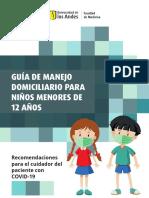 Guía de manejo domiciliario para niños menores de 12 años
