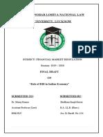 Financial Market Regulation FD
