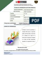 FICHA DE ACTIVIDADES DE APRENDZAJE -MODALIDAD NO  PRESENCIAL O REMOTA-2DA. SEMANA - 2DA. CLASE - C Y D..docx