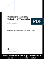 Hannah Barker - Women's History, Britain 1700-1850 (Women's and Gender History) (2005)
