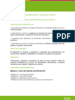 CERTIFICADO EN GESTIÓN INTEGRAL DE PROYECTOS