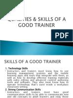 MTD - SKILLS & QUALITIES OF A TRAINER