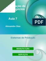 Aula_07 ADMINISTRAÇÃO DE NOVOS NEGÓCIOS