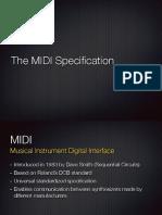 Lecture 2 - MIDI Basics