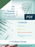 Profilaxis y Raspaje Periodoncia