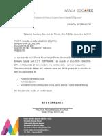 OFICIO DE DOCUMENTACION ESCUELA