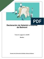 Bioética informe Belmont y Helsinki