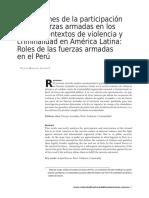 GONZALES JÁUREGUI Víctor, Dimensiones de la participación de las fuerzas armadas en los nuevos contextos de violencia y criminalidad en América
