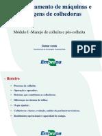 Dimensionamento de máquinas e regulagens de colhedoras - Osmar Conte