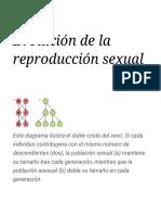 Evolución de la reproducción sexual - Wikipedia, la enciclopedia libre